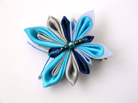 how to make kanzashi butterfly
