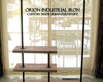 """Deluxe Industrial Clothing Rack 48"""", Industrial Garment Rack, clothing storage, rustic furniture, vintage"""