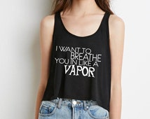 """5 seconds of summer 5SOS """"i want to breathe you in like a vapor"""" boxy,cropped tank"""