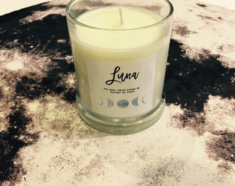 Pure Soy Candle Reiki Charged Luna Intention for Ritual
