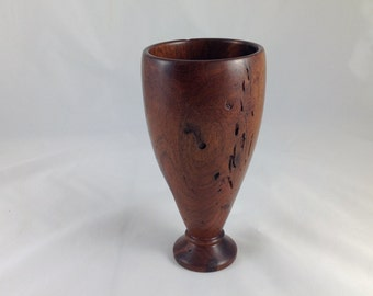 Goblet, mesquite wood, wooden sculpture, wooden sculpture, wooden vase, hand turned