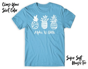 AXiD Alpha Xi Delta Pineapple Trio Choose Your TShirt Color!