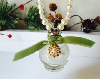 Small vintage salt shaker Christmas ornament