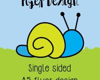 Flyer Design - Single Sided, Bespoke business flyer design, Custom Flyer Design, business branding, PDF flyer, promotional leaflet design
