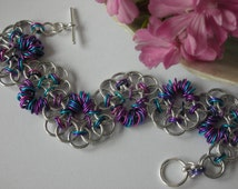 DIY Chain Maille Bracelet Parallel Weave Mexican Wave