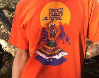 Frontier folk festival shirt 1982
