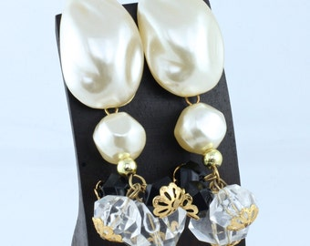 Pearl Charm Earrings