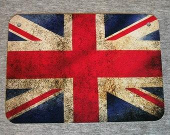 Metal Sign UNION JACK flag United Kingdom UK royal man cave garage wall plaque