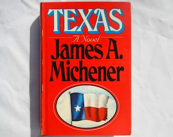 Texas A Novel by James A. Michener Vintage 1985 Book Club Edition
