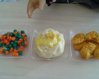 """Buttery Mash Potato fit with American girl 18"""" Dolls, BJD, 18"""" doll food, American Food, Doll Food"""