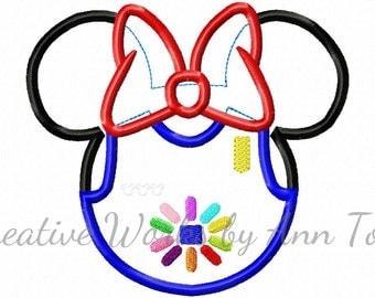 Miss Mouse Daisy Scout Mouse Head Applique