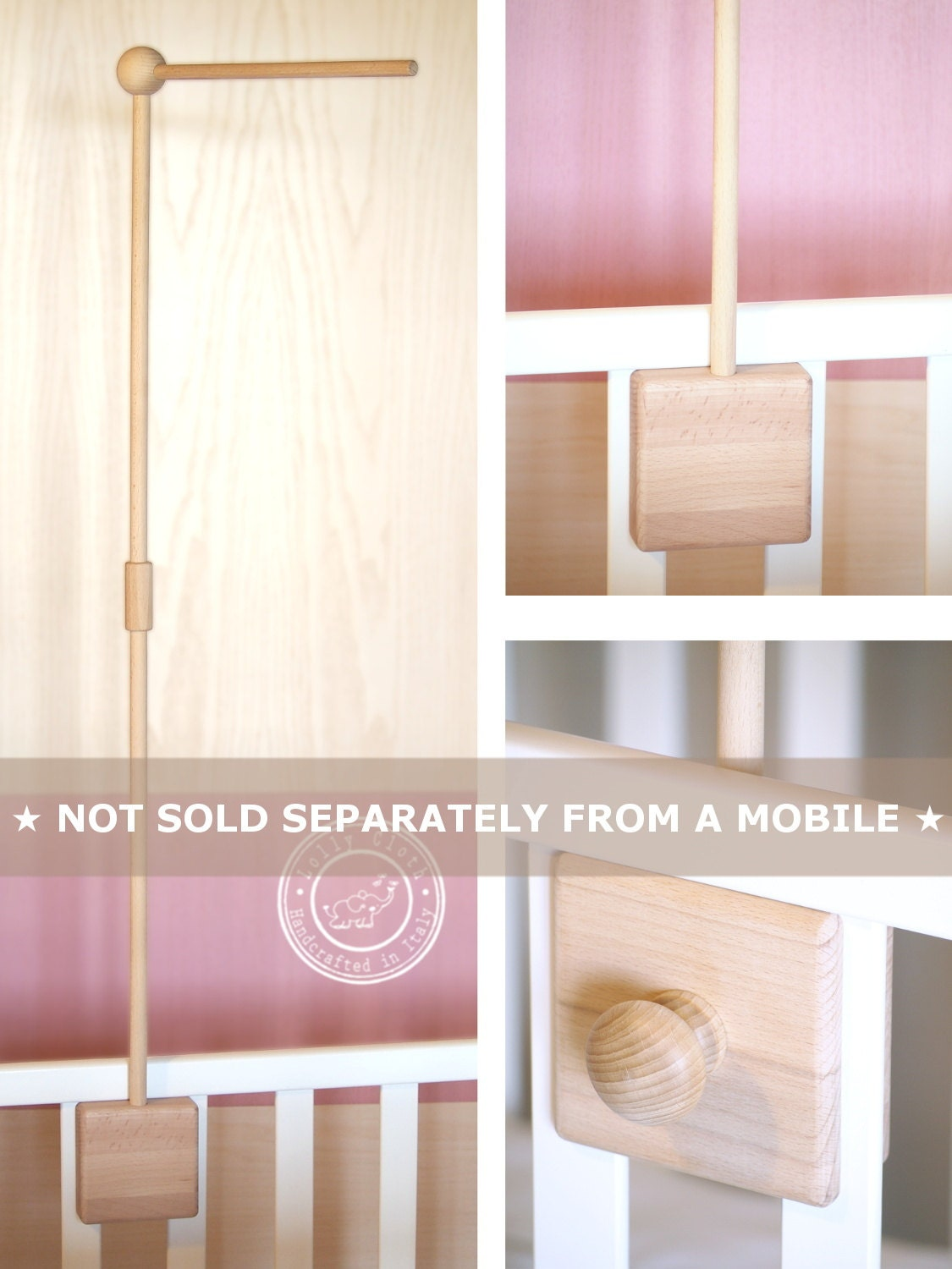 Baby Crib Mobile Arm Wooden Crib Arm For Baby Mobile Baby