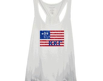 Kappa Kappa Gamma Mascot USA Flag Flare Tank