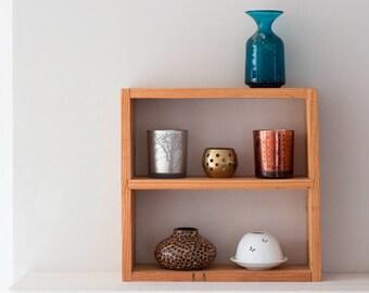 Wooden Display Cabinet - Reclaimed Pallet Shelves