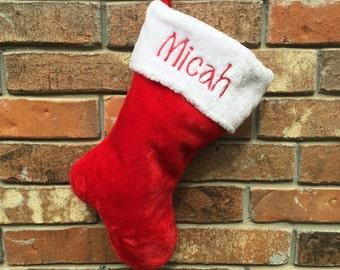 Christmas Stocking, Personalized Christmas Stocking, Name
