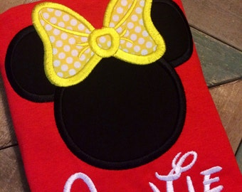 Red Miss Mouse and Mister Mouse Inspired Shirt in Kids and Adult Sizes!!!