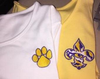 LSU Appliqued Tee Shirt, Women's Tees,  LSU Tee