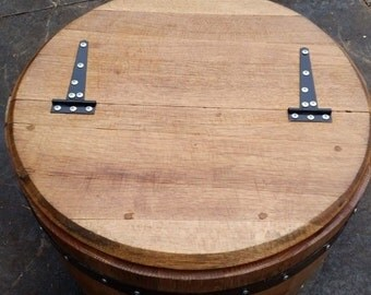 Solid Oak Storage Tub made from Recycled Scottish Whisky Barrels.