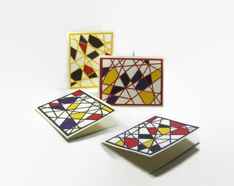 Abstract Shapes Blank Cards Set of Four