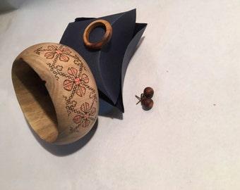 Wood Jewelery Set