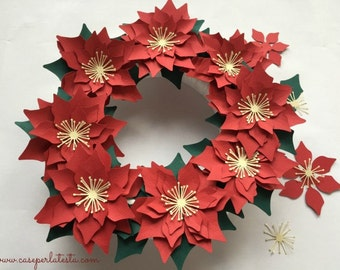 Kit to make a Paper Poinsettia