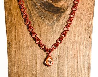 Vintage Rose Byzantine Necklace