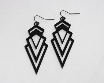 3D PRINTED Valorous Art Deco Earrings