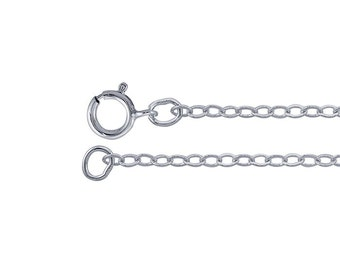 Sterling Silver Flat Cable Chain - Custom Length and Size