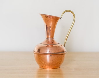 Copper and Brass Pouring Jug