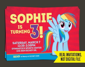 Rainbow Dash Birthday - Rainbow Dash Invitation
