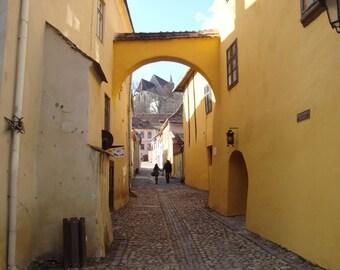 Yellow way, original photography: 20 x 30 cm