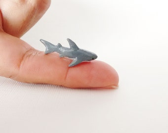 Miniature Shark - Tiny handmade figurine. OOAK.