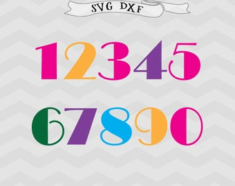 numbers SVG Football svg Dxf birthday svg file for cricut, silhouette files silhouette cameo, circut downloads  Cricut designs School svg