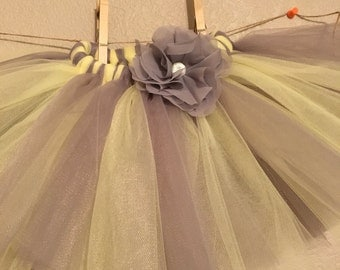 Grey and yellow girls tutu