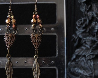 "Earrings ""Precious Feather"""