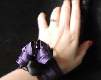 "Gothic bracelet ""Deep Purple"""