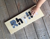 Name Puzzle 6 Letters  | add personalized engraved message on back for a keepsake gift. Shapes available in other listings