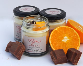Orange chocolate candle