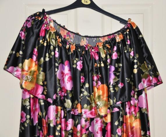 Huge sweeping silky satin nightie,lovely crossdressers night wear, ultimate feminine fun, Sissy Lingerie