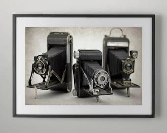 Vintage camera, Fine Art Photography, Office Wall Art, Fine Art Photograph Instant Download, Home decor.