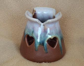 Vintage Votive Candleholder; Vintage Pottery