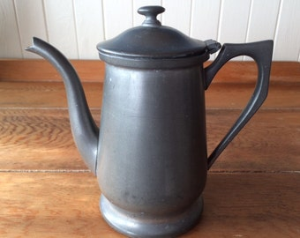 Vintage Continental Pewter Coffee Pot