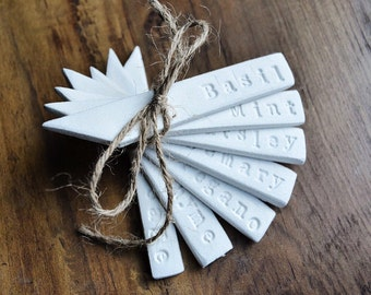 Clay Garden Herb Markers | Vegetable Markers | Plant Markers For Garden  Lovers From The White