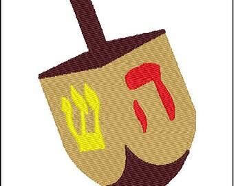 Dreidel Embroidery Design