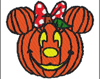 Halloween Minnie Mouse Embroidery Pattern Design