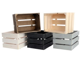 Rustic Wooden Crates - Medium