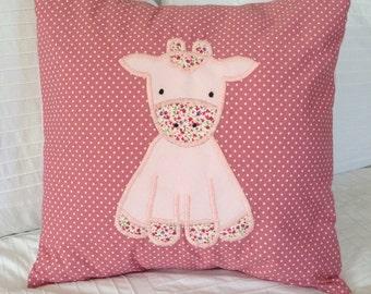 Modern Giraffe Handmade Pillow