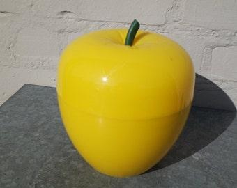 Italian vintage 70 yellow apple  ice bucket