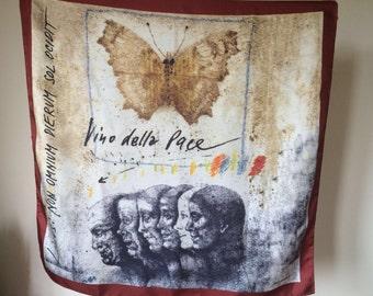 Wine Cellar peace scarf Cormons