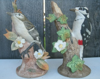Two Lefton Handpainted Birds